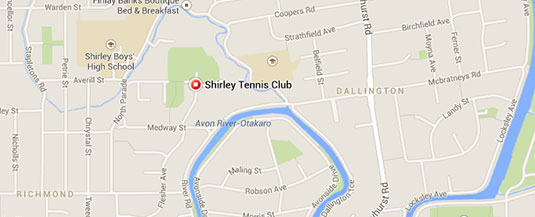 Shirley Tennis Club Location